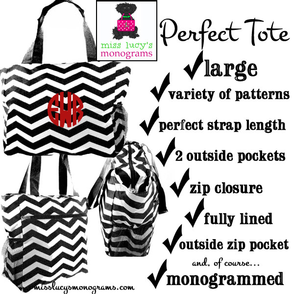 features of our perfect tote - lots of patterns available