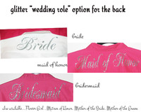 GLITTER  Option for BACK  of Monogrammed Men's Shirt for Her - Wedding Party Role