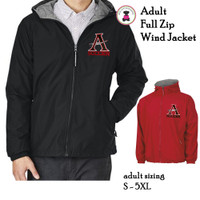 ALLATOONA SOCCER Flannel Lined, FULL ZIP   Wind Jacket - Adult Sizing