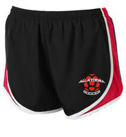 ALLATOONA SOCCER - Black / Red / White Ladies' Running Short with HEAT PRESS DESIGN