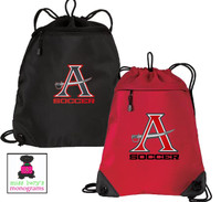 ALLATOONA SOCCER - Cinch / Track Bag with Mesh Back and EMBROIDERED DESIGN