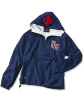 PCHS CHEER -  Flannel Lined, Pullover Navy Wind Jacket - Adult - EMBROIDERED DESIGN with optional monogram