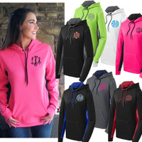 MONOGRAMMED PERFORMANCE FLEECE LADIES HOODIE