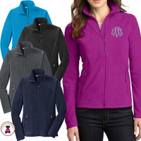 Monogrammed Eddie Bauer Full-Zip Ladies' Microfleece Jacket - FREE SHIP