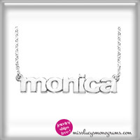 "sterling ""name"" necklace in lower case letters"