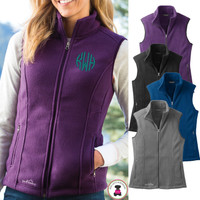 Monogrammed Ladies' Eddie Bauer Fleece Vest - FREE SHIP