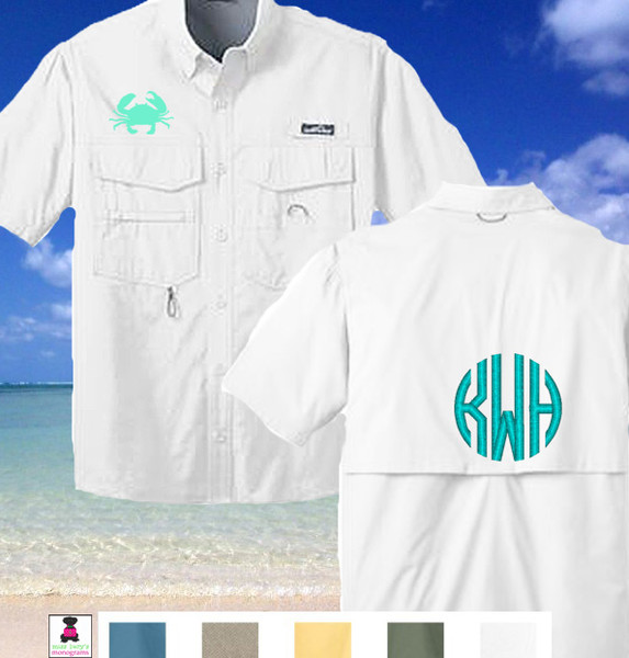Monogrammed eddie bauer fishing shirt is the cutest for Monogram fishing shirt