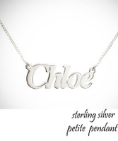 CHLOE Name Petite Necklace  - Sterling Silver - FREE SHIP