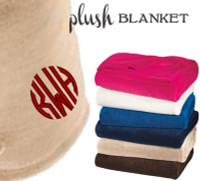 Monogrammed Soft Plush Blanket  - FREE SHIP