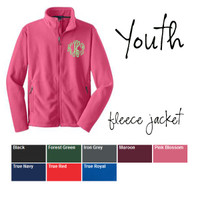 YOUTH Monogrammed Fleece Jacket  - FREE SHIP