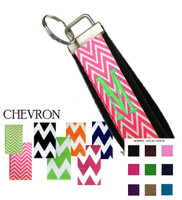 Custom, Monogrammed Key Fob - Chevron Ribbon Choices - FREE SHIP