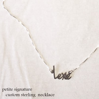 LEXIE Petite Signature Necklace  - Sterling Silver - FREE SHIP
