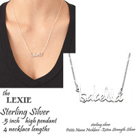 Petite Signature Necklace  - Sterling Silver - FREE SHIP