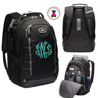 Monogrammed Deluxe Large OGIO Backpack - FREE SHIP