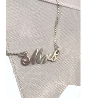 MRS. Petite Signature Necklace  - Extra Strength Sterling Silver - FREE SHIP