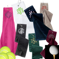 Monogrammed  Golf  /  Tennis Velour Towel -  FREE SHIP