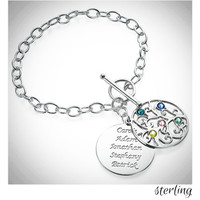MY FAMILY TREE Sterling Link Bracelet - FREE SHIP