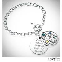 MY FAMILY TREE Sterling Link Bracelet - FREE SHIP
