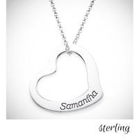 MY HEART Necklace - Sterling  - FREE SHIP