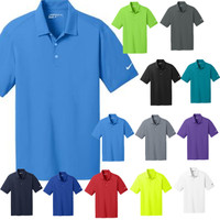 Monogrammed Nike Golf -  Men's  Dri-FIT Vertical Mesh Polo - FREE SHIP