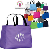 Monogrammed ESSENTIAL TOTE - FREE SHIP