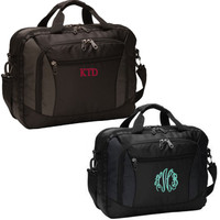 Monogrammed Commuter Briefcase - FREE SHIP