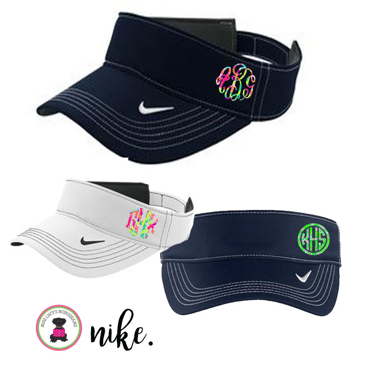 1dc44bf1a6f Monogrammed Nike Golf -Dri-FIT Swoosh Visor - LILLY Inspired ...