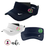 Monogrammed  Nike Golf -Dri-FIT Swoosh Visor  - LILLY Inspired Monogram -  FREE SHIP