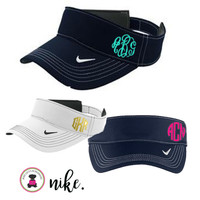 Monogrammed  Nike Golf -Dri-FIT Swoosh Visor  -SOLID  Monogram -  FREE SHIP