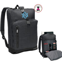 Monogrammed Deluxe Streamlined OGIO Backpack - Heather Gray - FREE SHIP