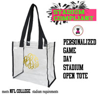 Personalized STADIUM COMPLIANT Open Tote  - FREE SHIP