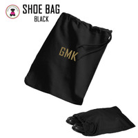 FOR HIM - Monogrammed Shoe Bag for Travel  - Black - FREE SHIP