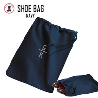FOR HIM - Monogrammed Shoe Bag for Travel  - Navy - FREE SHIP Men's Travel /Men's Shoe Bag/Groomsmen Gift /Father's Day Gift/Grad Gift