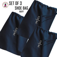 FOR HIM - Monogrammed Set of 3 Shoe Bags for Travel  - Navy - FREE SHIP Men's Travel /Men's Shoe Bag/Groomsmen Gift /Father's Day Gift/Grad Gift