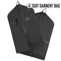 FOR HIM Monogrammed Hanging Garment Bag for Dress/ Suit  - Black - FREE SHIP