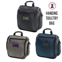 FOR HIM Monogrammed Deluxe Hanging  Toiletry Bag-   FREE SHIPPING