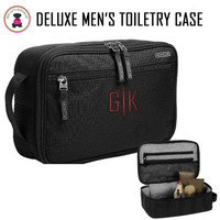 FOR HIM Monogrammed Deluxe Travel/Toiletry  Kit - Black - FREE SHIP-Groomsmen Gift/Father's Day Gift/Grad Gift/Gift for Him/ Group Discount