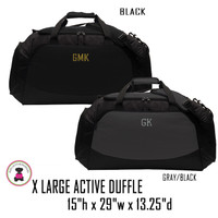 FOR HIM Monogrammed X LARGE Active Duffle - FREE SHIP