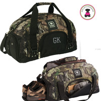 FOR HIM Monogrammed OGIO® Camo Big Dome Duffle-Mossy Oak Break-Up Country - FREE SHIP-Groomsmen Gift/Father's Day Gift/Grad Gift/Gift for Him