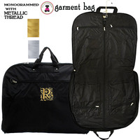 METALLIC THREAD Monogrammed Canvas Garment Bag -  Black - FREE SHIP