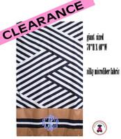 Monogrammed ST TROPEZ Deluxe Beach Towel-Black / White- FREE SHIP/Beach Towel / Microfiber Towel / Pool Towel / Bride Gift / Grad Gift / Gift for Her