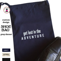 Travel Shoe Bag with SPECIALTY DESIGN-Get Lost in the Adventure - FREE SHIP /Bridesmaid Gift /Family Reunion/Cruise/Group Gift/Gift for Her/Men Travel Gift/Groomsmen Gift