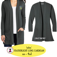 SP ELEM - Ladies' Lightweight Long Cardigan - Gray Smoke