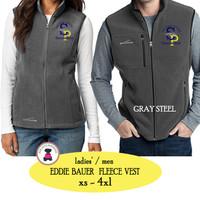SP ELEM - Ladies'/Men Eddie Bauer Fleece Vest - Gray Steel