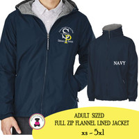 SPE ELEM - Adult Sized Charles River Full Zip Jacket - Navy