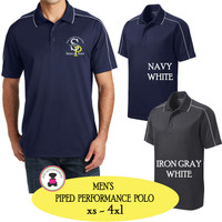 SP ELEM - ADMIN-  Men's  Piped Performance Polo
