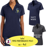SP ELEM - ADMIN-  Ladies'  Piped Performance Polo