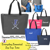 FANIN COUNTY - Everyday Essential Zip Top Tote - FREE SHIP