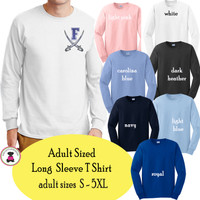 FANIN COUNTY - Adult Sized Long Sleeve T Shirt - FREE SHIP