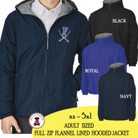 FANIN COUNTY- Adult Sized Charles River Full Zip Jacket - Navy - FREE SHIP